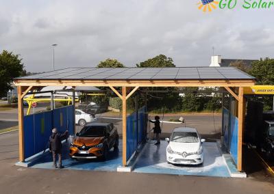 installation panneaux solaires laverie libre service