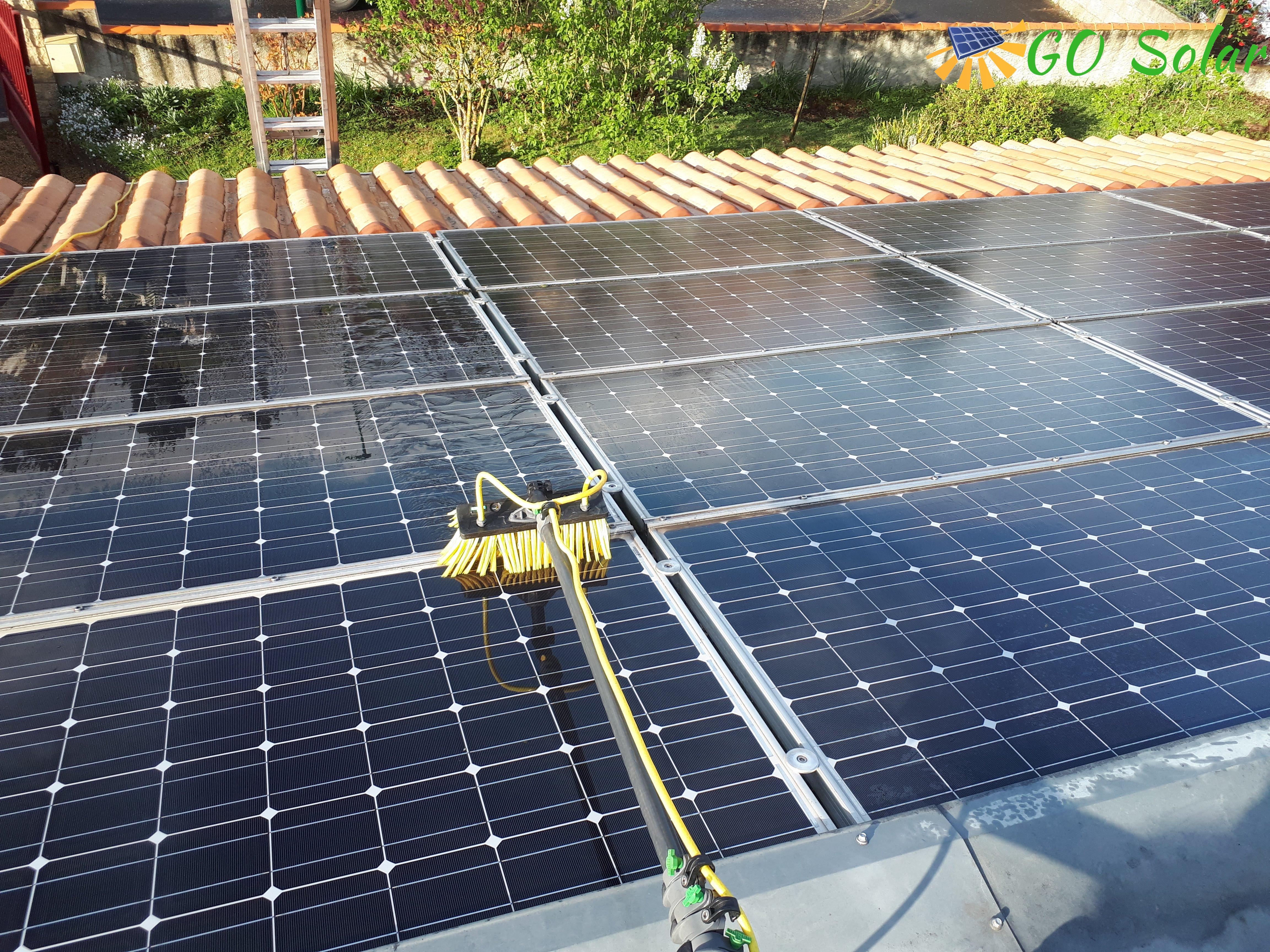 Nettoyage de panneaux solaires photovoltaïque